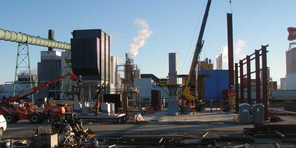 Wellons Biomass Panel Boiler Under Construction - MillerCoors