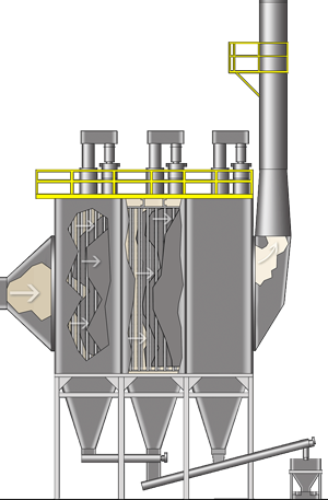 Electrostatic Precipitator Illustration Diagram