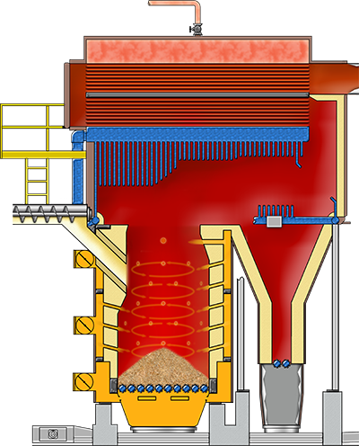 Wellons Package Boiler Illustration